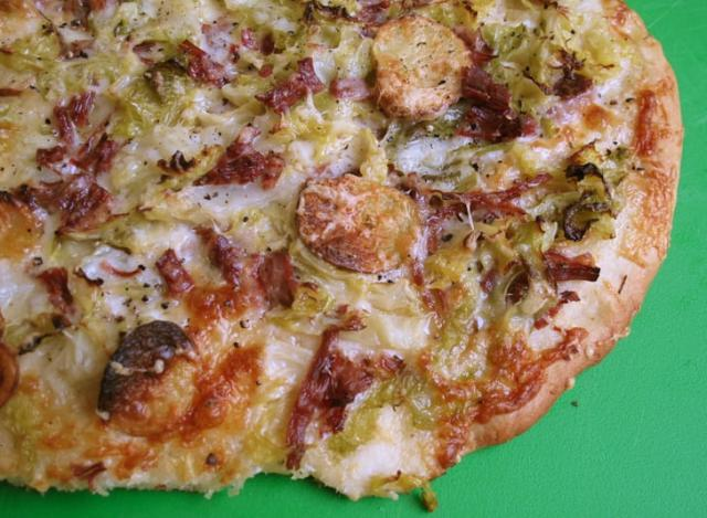 Corned-Beef-and-Cabbage Pizza Rezept