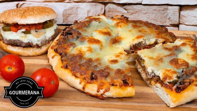 Cheeseburger Pizza Rezept